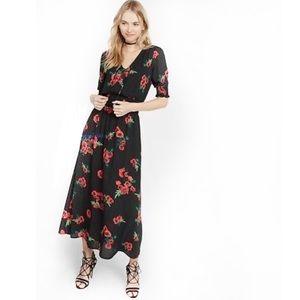 Express | floral rose maxi dress